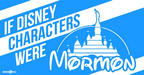 disney characters  mormon lds daily