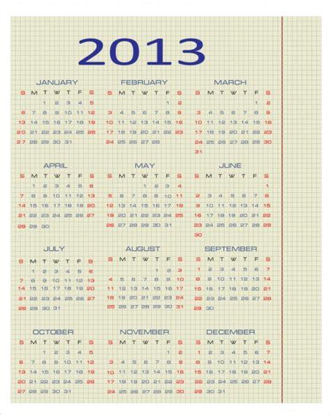 Basic Calendar 2013 2014 2015 2016 2017 2018 Stock