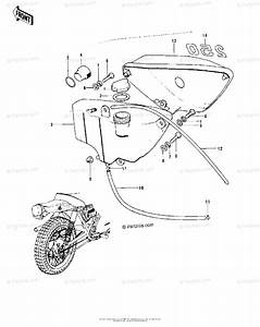 Kawasaki Motorcycle 1974 Oem Parts Diagram For Side Cover