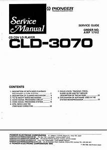 Pioneer Cld-3070 Laser Disc   Service Manual