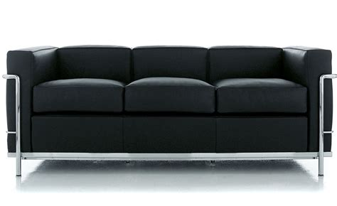 Corbusier Loveseat by Le Corbusier Lc2 3 Seat Sofa Hivemodern