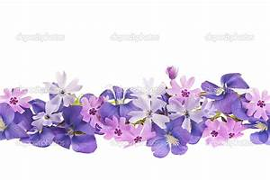 Spring Flower Divider | Purple spring flower border ...