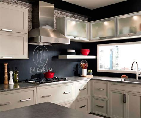 Grey Cabinets in Casual Kitchen   Kitchen Craft Cabinets