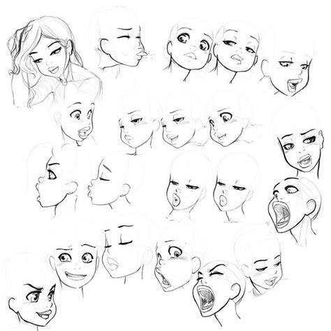 female cartoon faces  drawings drawings