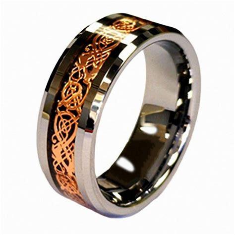 queenwish mm white engagement tungsten ring rose gold