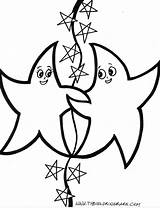 Coloring Pages Twin Stars Starfish Star Printable Labels Animal Popular sketch template
