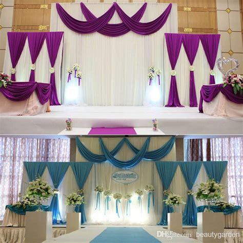 podium drape wedding background fabric satin curtain drape stage