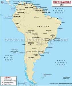 South American Cities, Cities in South America