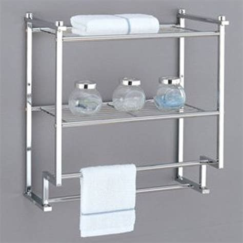 towel rack bathroom shelf organizer wall mounted