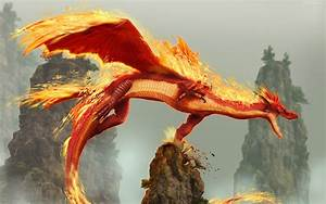 Red Fire Dragon wallpaper - 91105