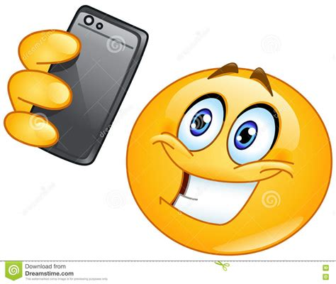 emoticon  selfie illustrazione vettoriale illustrazione