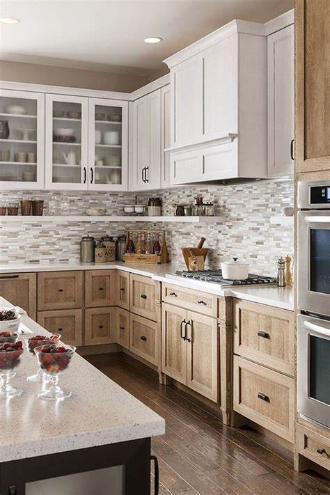 25+ Charming Kitchen Remodel With Wood Cabinets