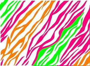 Pink, Green, Orange Zebra Print Clip Art at Clker.com ...