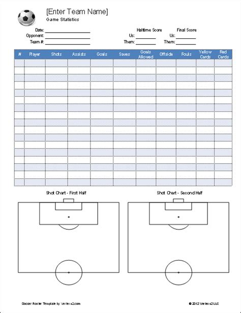 soccer roster template soccer roster template for excel