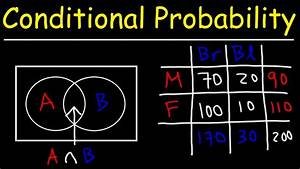 Conditional Probability With Venn Diagrams  U0026 Contingency