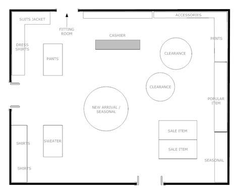 floor layout design boutique floor plan
