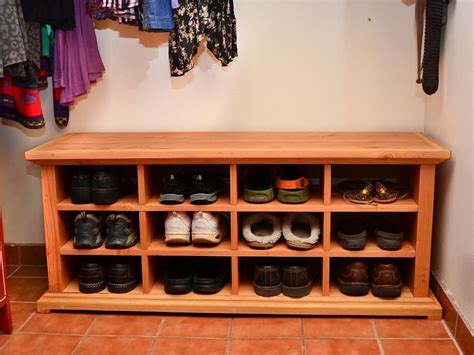 storage bench  cubby holes