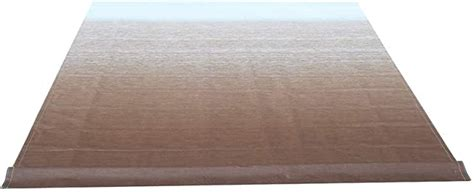 aleko  feet vinyl rv awning fabric replacement  retractable awning brown fade color