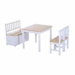 Kindertisch Und Stühle Weiß : homcom 4 tlg kindersitzgruppe 1 x kindertisch 2 x real ~ Whattoseeinmadrid.com Haus und Dekorationen
