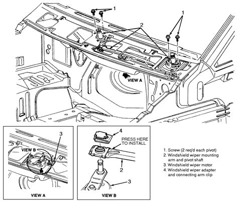 Ford Wiper Linkage Diagram by Wiper Linkage Repair Ford Explorer