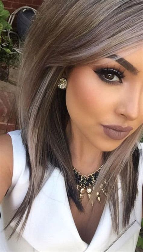 Makeup Tips for Medium Skin Gray hair highlights Hair