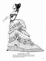 Coloring Adult Historical Victorian Edwardian Final Late Fashions Printable Books Sheets 1878 Effect Visit Skirts Source European sketch template