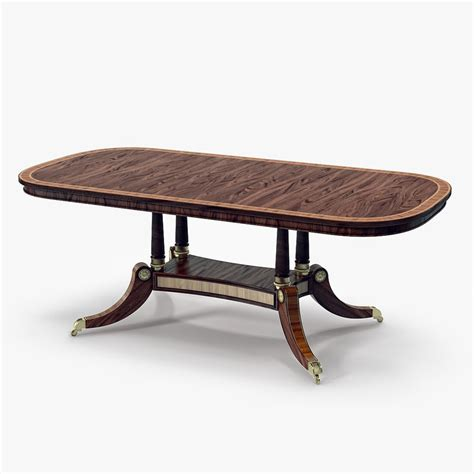 theodore alexander dining table 3d model of kirkham dining table