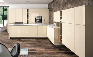 Meuble Laqué Beige : charmant meuble cuisine couleur taupe 1 cuisine beige ~ Premium-room.com Idées de Décoration