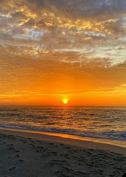 Sunset Coast Horizon Sea