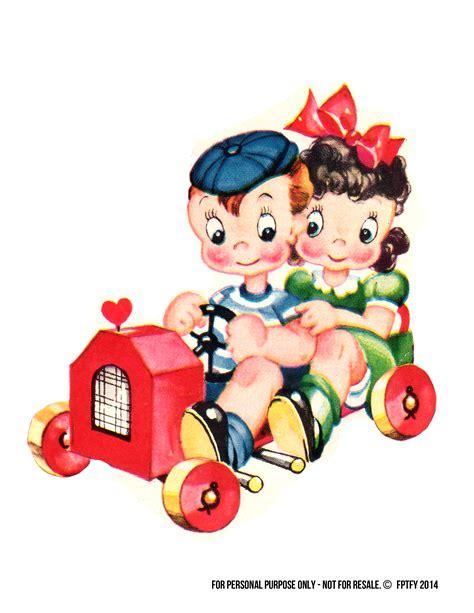Free Vintage Clip Vintage Children Clipart Clipground