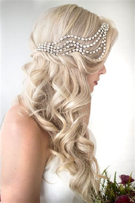 popular wedding hair styles  long hair festival