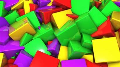 3d Colorful Cubes Wallpapers Wallpapertag Popular Info