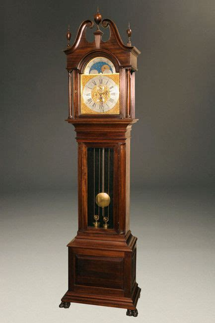 late  century watham tall case clock clock antique
