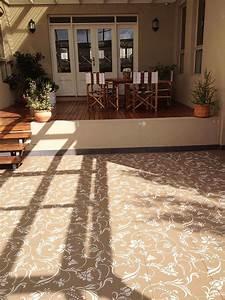 Flourish allover wall stencil paint concrete floors for Painting concrete patio stencil