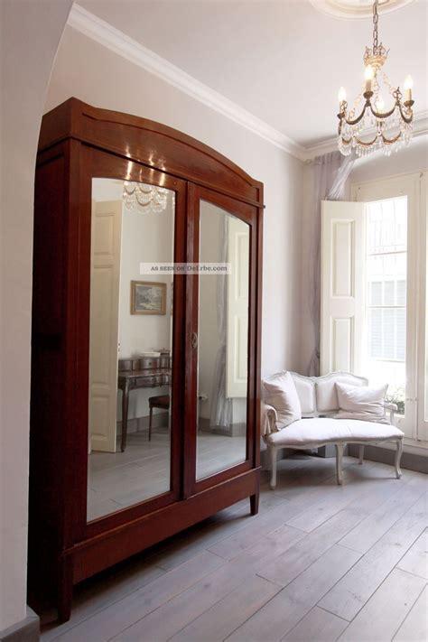 spiegel deco wundersch 246 ner gro 223 er antiker kleiderschrank jugendstil deco mit spiegel