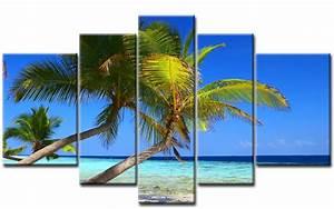 Leinwand 5 Teilig : palmen leinwand 5 bilder strand meer m50172 xxl die leinwandfabrik ~ Whattoseeinmadrid.com Haus und Dekorationen