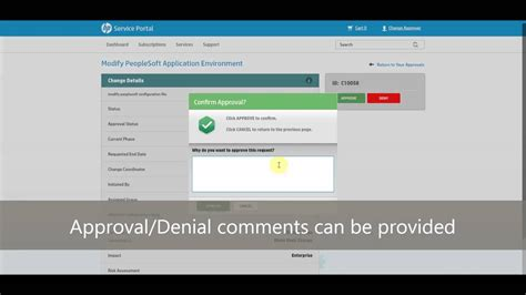 simplified change management  hp service manager youtube