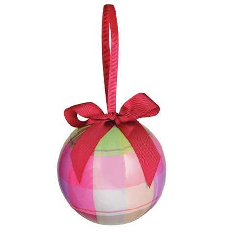 pink baubles next tartan bauble from next tree decorations 10 of the best housetohome co uk