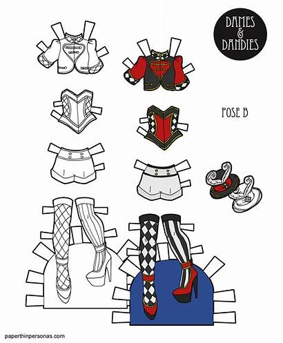 Circus Paper Printable Let Doll Clothes Dolls