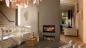 Cheminée Bois Design : chemin e avec insert design pour un int rieur chaleureux ~ Premium-room.com Idées de Décoration