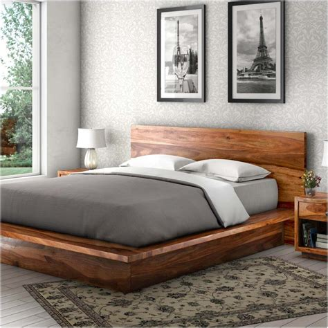 Wooden Bed Platform delaware solid wood platform bed frame