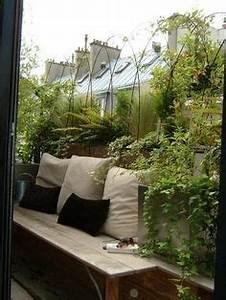 Balcon idees deco amenagement on pinterest balconies for Amenager un petit jardin de ville 1 douze amenagements possibles pour votre balcon