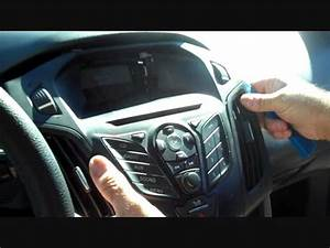 How To Ford Focus Car Stereo Removal 2012