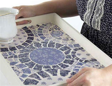 paper mosaic tray