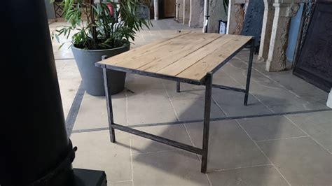 vieux bureau bureau en fer et vieux bois vieux chêne de récupération