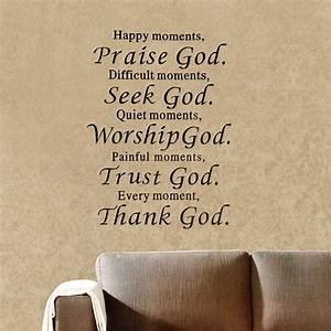 New bible wall sticker praise god trust thank