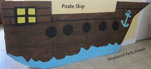simplyiced party details pirate party preparations With cardboard pirate ship template