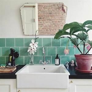 Salon Vert D Eau : carrelage salle de bain vert deau avec des ~ Zukunftsfamilie.com Idées de Décoration