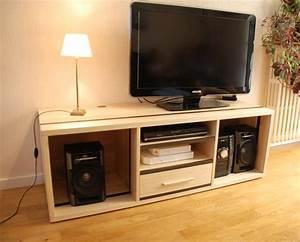 Meuble Tv Hifi : meuble tv hifi contemporain en fr ne et valchromat gris atelier pourquoi pas mobilier ~ Teatrodelosmanantiales.com Idées de Décoration