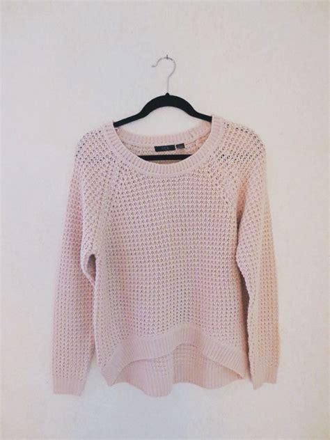 waffle knit sweater baby pink waffle knit sweater on storenvy